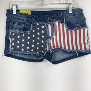 Machine 31 Denim Jean Shorts Americana Flag USA